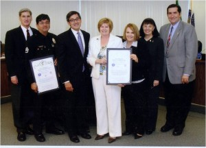 Emily and LA Police Commissioners