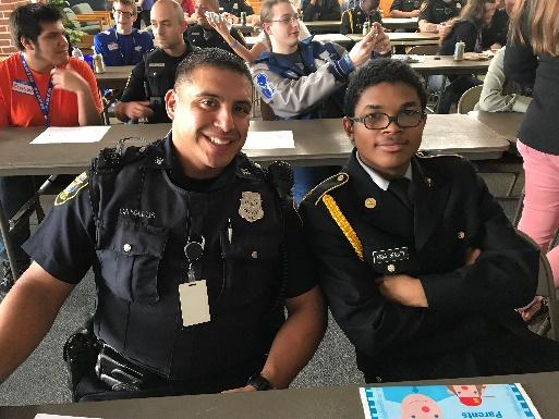 Officer Canales and Elijah got along great