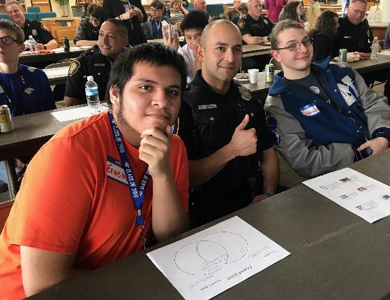 Officer Montelongo, Erasmus and Isaiah discovered that they have a lot in common
