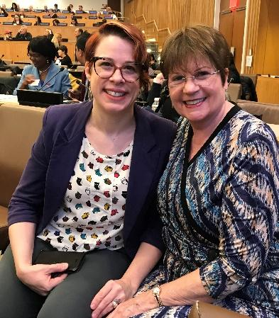 In the security council chamber with autism advocate Rachel Ford